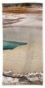 Doublet Pool In Upper Geyser Basin In Yellowstone National Park Bath Towel