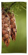Douglas Fir Cones Bath Towel