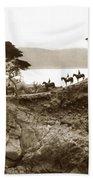 Douglas School For Girls At Lone Cypress Tree Pebble Beach 1932 Hand Towel