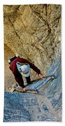 Down The Ladder In Big Painted Canyon Trail In Mecca Hills-ca  Bath Towel