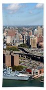 Downtown Buffalo Skyline Bath Towel