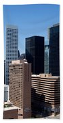 Downtown Houston Texas Bath Towel