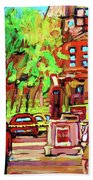 Downtown Montreal Mcgill University Streetscenes Hand Towel
