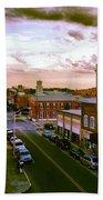 Downtown Washington Nc Bath Sheet by Joan Meyland