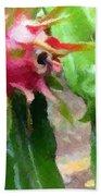Dragon Fruit Also Know As Pitaya Or Pitahaya Bath Towel