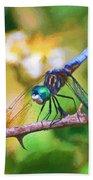 Dragonfly Art - A Thorny Situation Bath Towel
