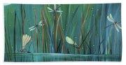 Dragonfly Diner Bath Towel