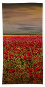 Drama Over The Flower Fields Hand Towel