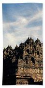 Dramatic Ancient Borobudur  Bath Towel