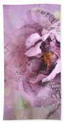 Dreamy Purple Lavender Impressionistic Abstract Floral Art Photography Bath Towel