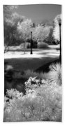 Surreal Infrared Black White Infrared Nature Landscape - Infrared Photography Bath Towel