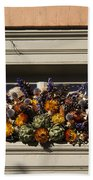 Dried Flowers And Atichoke Spray Bath Towel