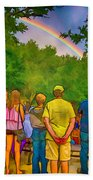 Drum Circle Rainbow Hand Towel