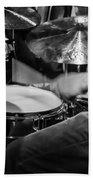Drummer At Work Bath Towel