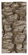 Dry Cracked Mud  Bath Towel
