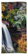 Dry Falls In Autumn Bath Towel
