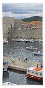 Dubrovnik Old Harbour Bath Towel