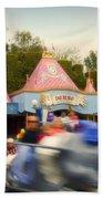 Dumbo Flying Elephants Fantasyland Signage Disneyland 02 Bath Towel