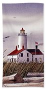 Dungeness Lighthouse Bath Towel