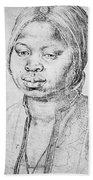 Durer Slave Woman, 1521 Bath Towel