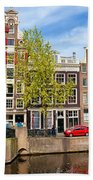 Dutch Canal Houses In Amsterdam Hand Towel