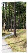 Dutch Country Bicycle Path Bath Towel