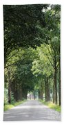 Dutch Landscape - Country Road Bath Towel