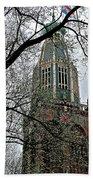 Dutch Reformed Church Tower In Enkhuizen-netherlands Bath Towel