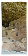 Dwellings In Spruce Tree House On Chapin Mesa In Mesa Verde National Park-colorado  Bath Towel