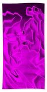 E Vincent Negative Purple Bath Towel