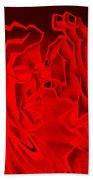 E Vincent Negative Red Bath Towel