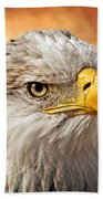 Eagle At Sunset Bath Towel