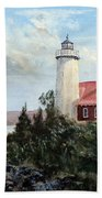 Eagle Harbor Light Bath Towel
