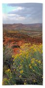 Early Evening Landscape At Arches National Park Bath Towel