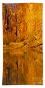 Early Morning Canyon Reflection Bath Towel