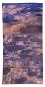 Early Morning Light On Minerva Springs Yellowstone National Park Bath Towel