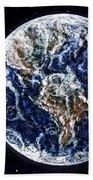 Earth Beauty Original Acrylic Painting Bath Towel