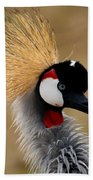East African Crowned Crane Bath Towel