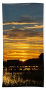 East Coast Sunset Bath Towel