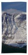 1m3743-east Face Mt. Kitchener With Cloud Bath Towel