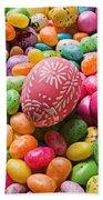 Easter Egg And Jellybeans  Bath Towel