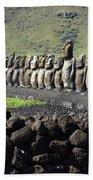 Easter Island 4 Bath Towel