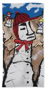 Easter Island Snow Men Bath Towel