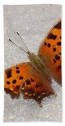 Eastern Comma Butterfly Bath Towel
