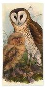 Eastern Grass Owl Bath Towel