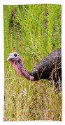 Eastern Wild Turkey - Longbeard Bath Towel