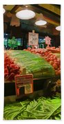 Eat Your Fruits And Vegetables Bath Towel