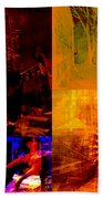 Eclectic Things Collage Bath Towel