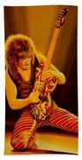 Eddie Van Halen Painting Bath Towel