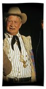 Edgar Buchanan Chills Wills  Johnny Cash Porch Old Tucson Arizona 1971-2008 Bath Towel
